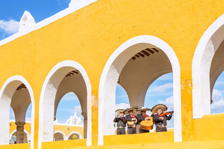 Mariachi band in Izamal, Yucatan, Mexico