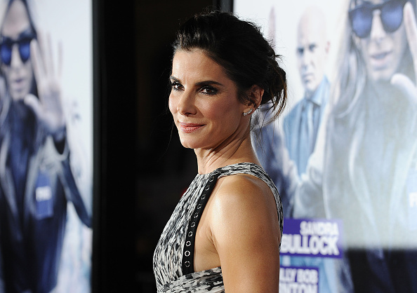 "HOLLYWOOD, CA - OCTOBER 26: Actress Sandra Bullock attends the premiere of ""Our Brand Is Crisis"" at TCL Chinese Theatre on October 26, 2015 in Hollywood, California. (Photo by Jason LaVeris/FilmMagic)"