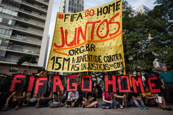Anti-Government Demonstrators Protest Across Brazil Over Country Hosting World Cup