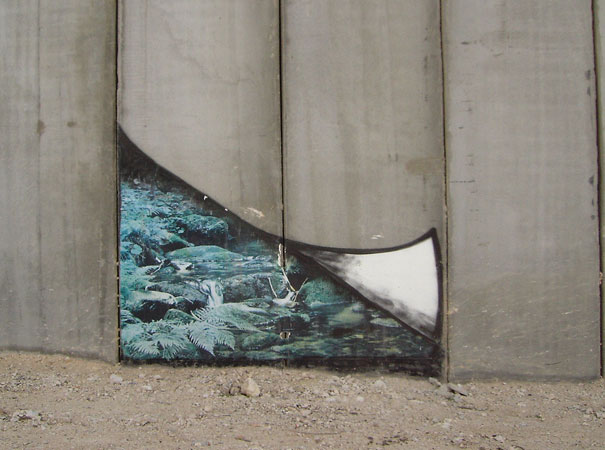 banksy-graffiti-street-art-palestine-wall-gap