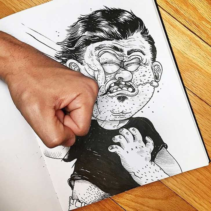 Funny-Drawing-Character-Fighting-His-Maker2__700