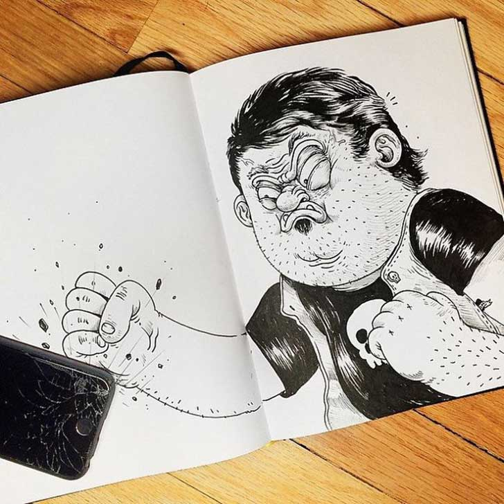 Funny-Drawing-Character-Fighting-His-Maker8__700