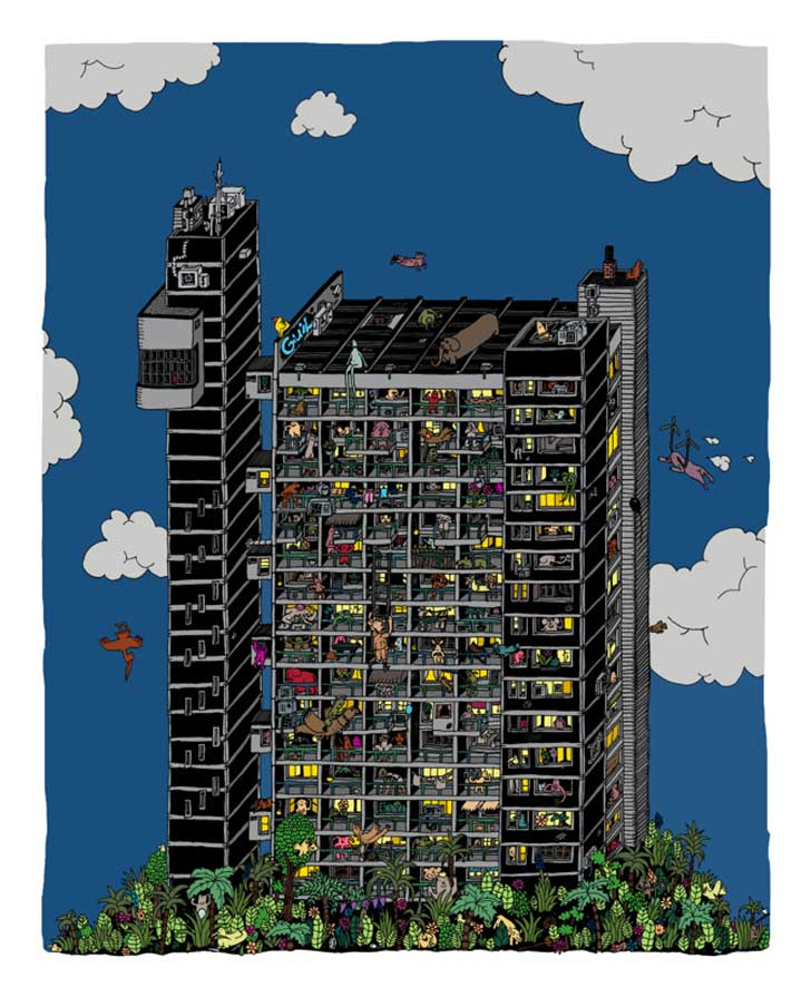 trellick-tower-digital-coloring