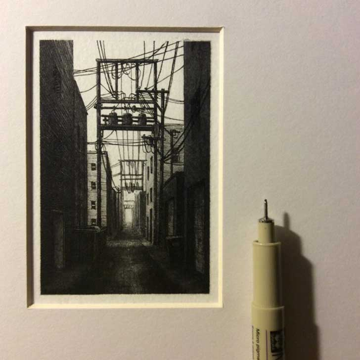 Tiny-Drawings-by-Taylor-Mazer_9-640x640