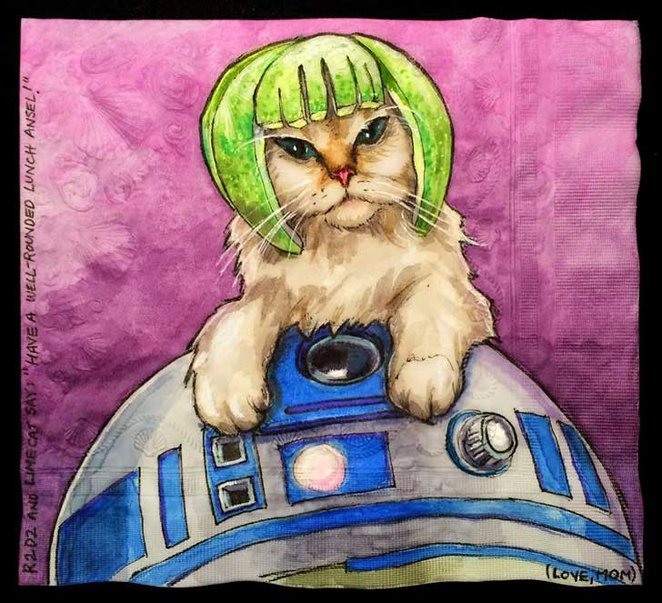 Cats-and-Robot-Drawn-on-Kids-Lunchbox-Napkins-3__880