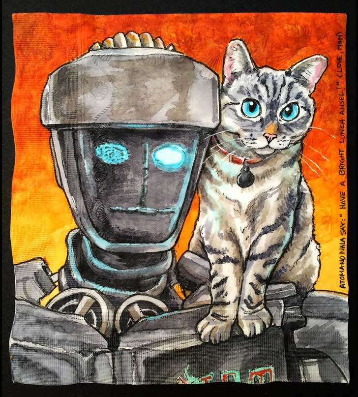Cats-and-Robot-Drawn-on-Kids-Lunchbox-Napkins-5__880