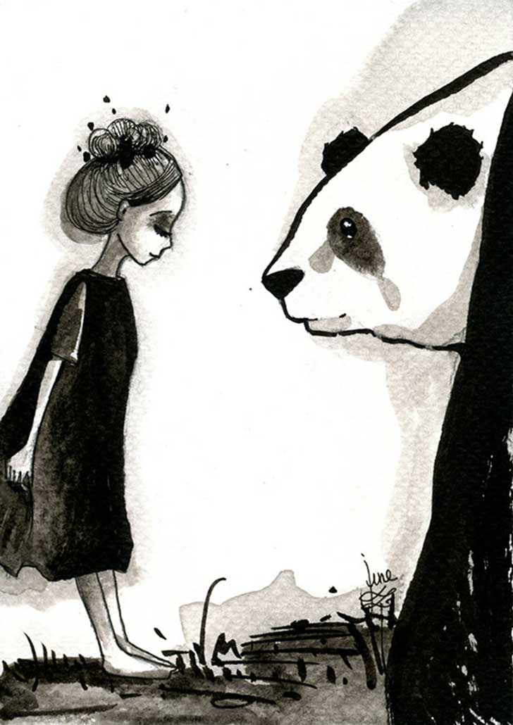 Pandamonium-Panda-and-Maiden-ink-drawings-by-June-Leeloo14__605