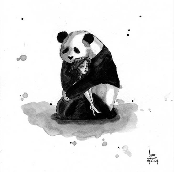 Pandamonium-Panda-and-Maiden-ink-drawings-by-June-Leeloo16__605