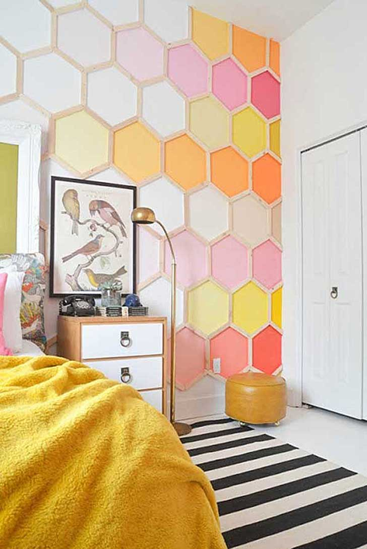 4-Colorful-Honey-Comb-Wall-Art
