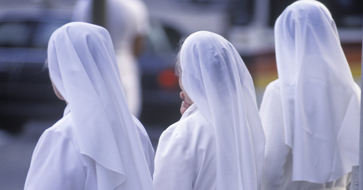 Nuns on the street, Montreal, Quebec, Canada.