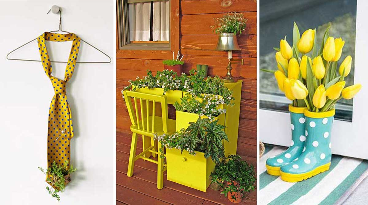 30 hermosas ideas para decorar tu hogar con flores y for Como decorar mi jardin con plantas