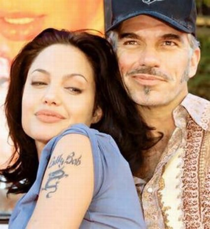 Angelina Jolie with former husband Billy Bob Thornton.
