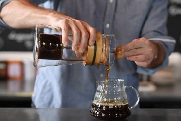 WASHINGTON, DC - SEPTEMBER 01: Matt McGuire, coffee director at the Coffee Bar on S St. NW demonstrates the process for cold-brew coffee concentrate for a photograph on Thursday September 01, 2016 in Washington, DC. (Photo by Matt McClain/ The Washington Post via Getty Images)